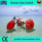 Golden supplier water trike for sale CE Approved family games aqua-cycle