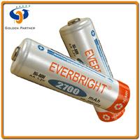 Model AA 2700 mAh Rechargeable Bateria