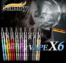 Big capacity 3.0ml 510 thread x6 vaporizer, atomizer tank x6 electronic cigarette