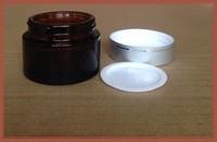 1oz amber cosmetic glass bottles/face cream jars