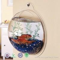 custom wall mounted clear acrylic fish tank