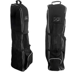 China Supplier Golf Bag Travel Flight Cover With Wheels Black