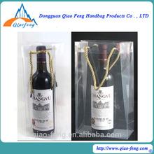 Fashion Design Gift Bottle Pvc Wholesale Wine Bags