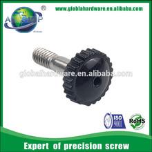 cabinet knob screws custom plastic head knurled thumb screw