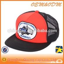 Custom Design Vans Flat Brim Embridory/Print Pattern Trucker cap Wholesale