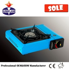 ceramic single burner portable butane gas stove super flame outdoor camping use