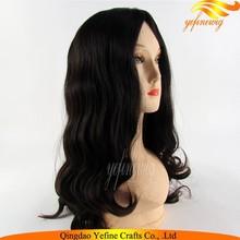 Wholesale Half Handtied Silk Skin Virgin Brazilian Wigs Jewish