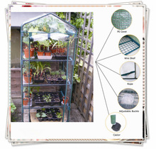 Mini Steel Green House with PE or PVC Cover GH003