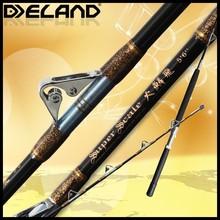 Cheap Fiber Glass trolling fishing tackle, Aluminum reel seat and EVA fishing rod holder