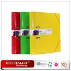 yellow A4 round spine lever arch file/file folder with elastic bands