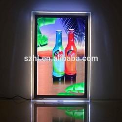2015 crystal acrylic led poster frame light frames