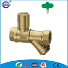 Wholesale cheap galvanized lockable pn25 brass ball valve with y-strainer