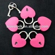 Pink Love Heart lock For Wedding Gift Valentine's Day Lock