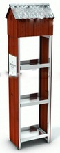 Retail store wood display stand with novel and fashion design