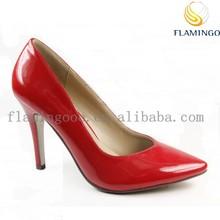 FLAMINGO 2015 LATEST ODM OEM High Quality Patent Women High Heel Dress Pump Shoes