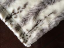 Customize Luxury faux fur 100 acrylic faux fur mink blanket