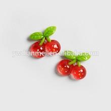 creative cherry fruit resin fridge magnet,refrigerator magnet