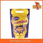 Custom resealable plastic ziplock bag zipper pouch with waterproof for food packaging