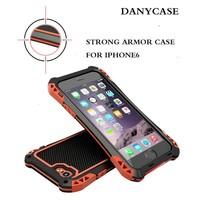 Waterproof gorilla glass aluminum metal case,dirtproof waterproof shockproof phone case for iphone 6