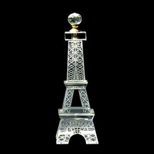 2015 Hot new products Eiffel tower shaped clear crystal perfume bottle