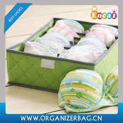 Encai New Style Foldable Underwear Storage Boxes Cheap Non-woven Bra Organizer Box Wholesale