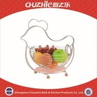 2015 New Design ChuZhiLe China Retailer for Fruit Basket with Chrom Plated Finish