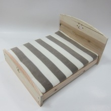 Simple design wooden dog bed Wood pet dog bed