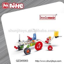 own brand intelligent building bricks,children blocks,intelligent diy model metal car toy