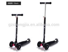 2015 Aluminium Push Foldable Kids Scooter boy's & girl's scooter 3 in 1 Adjustable kid scooter