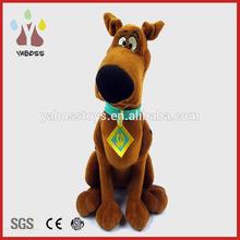 Custom cute sitting soft bulldog plush stuffed dog