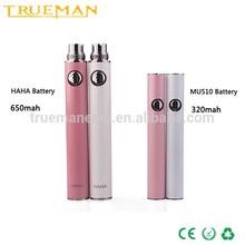 Korea hot e cigarette slim haha battery 510 battery to ego adapter
