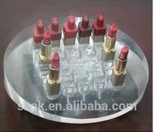 2015simple design rotating acrylic lipstick organizer for wholesale