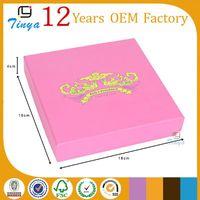 Accept custom pink jewelry box indian