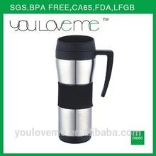bulk high quality stainless coffee mug wholesales double wall travel mug with handle