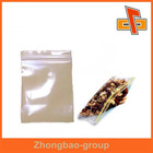 china maker high quality food safe reusable clear plastic zippered storage bag for food packaing
