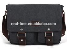 Brown Grey Canvas Men Messenger Bags Vintage Shoulder Bag Fashion Wholesale Crossbody Bags