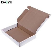 white/brown corrugated cardboard storage box foldable recyclable moving box shipping box with ISO9001