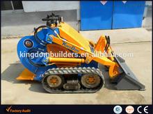 Mini bulldozer on track Kingdom KB380, mini track loader 380kg capacity with American engine