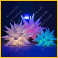 Hanging star led inflatable lighting decoration