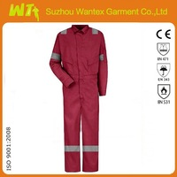 Wholesale used Red Mens coverall Breathble Fire retardant/Reflective coveralls for adult EN11611 fire retardant