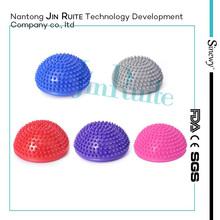 plastic massage half ball handle massage ball