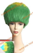 China alibaba best sale crazy football fans wig curly funny wigs for women