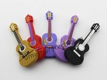 Wholsale bulk cheap spanish guitar shape memory stick pen drive 2g 4g 8g 16g 32g 64g usb flash drive