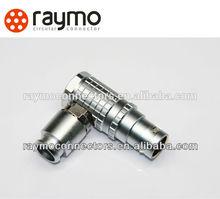 LEMO series B metal connector ,right angle plug FHG 0B/1B/2B/3B, male/female solder type
