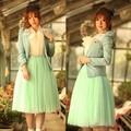 nova mulher moda princesa fairy estilo 5 camadas de saia e blusa vestido de casamento 5174