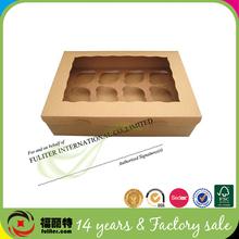 Food Packaging Recycled Brown Kraft Craft Cupcake Box