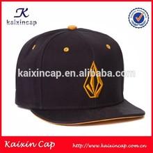 custom 6 panel design your own logo plastic strap high quality flat brim 3d embroidery logo snapback hat headwear