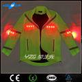 de alta calidad de moda led verde parpadea reflexivo chaqueta de esquí de