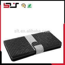Wholesale full diamond leather case for zte zmax z970