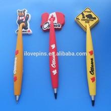 Canada Ottawa promotional gifts pvc ball pens with flag design, Canada national day gifts pvc ball pens